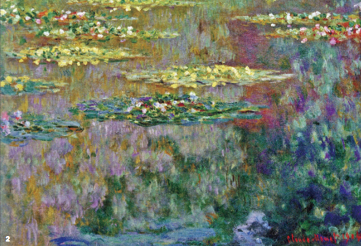 WaterLilies', oil on canvas, 1904 부분