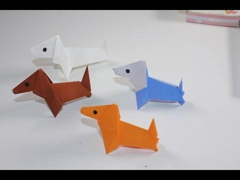 쉬운 개 강아지 동물 종이접기 동영상
