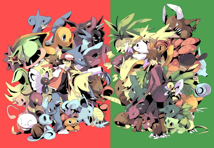 Pokemon - red vs green