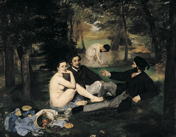 'The Luncheon on the Grass', Edouard Manet, oil on canvas, 208×265.5cm, 1863
