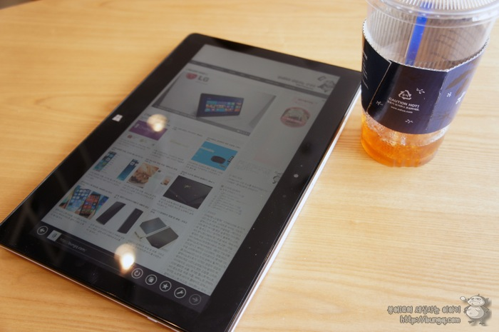 LG 탭북2(11T540-G330K), 카페 활용, 태블릿