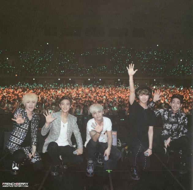 샤이니 콘서트 단체 사진