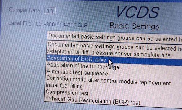 EGR 초기화 베이직 셋팅 Basic settings