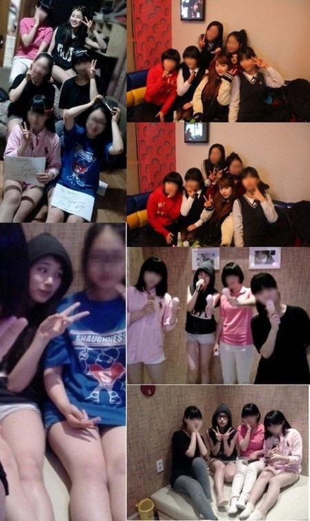 수지 친구들과 노래방