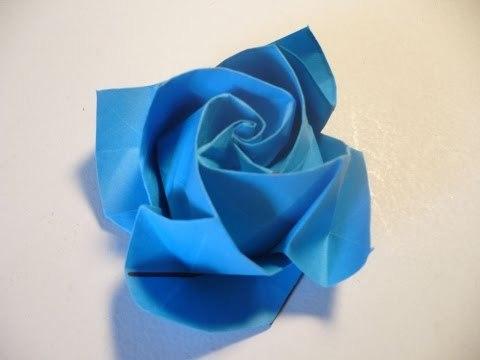 입체 장미꽃 종이접기 동영상