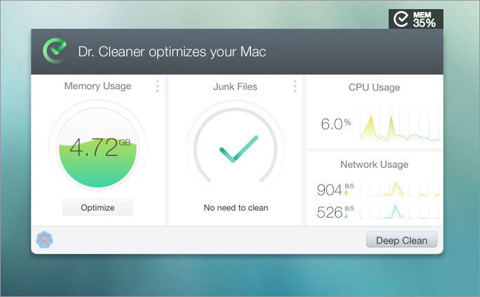 Dr. Cleaner optimize your Mac