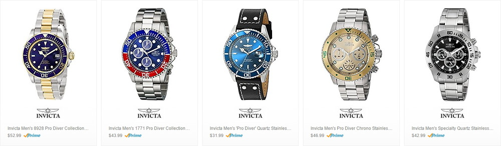 Up to 90% Off Classic Invicta Watches