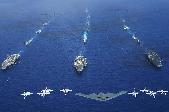 항공모함 전대 위용