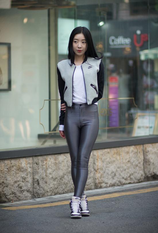 [여자] 2015년 4월 스트릿 패션-2 /아메리칸 어페럴 디스코 팬츠, 나이키 테크팩 자켓