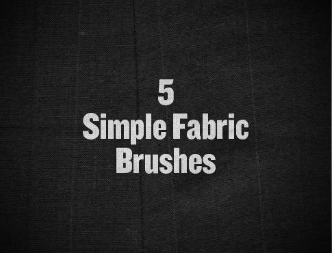 5 가지 천/직물/페브릭(fabric) 포토샵 브러쉬 - 5 Free Simple Fabric Photoshop Brushes