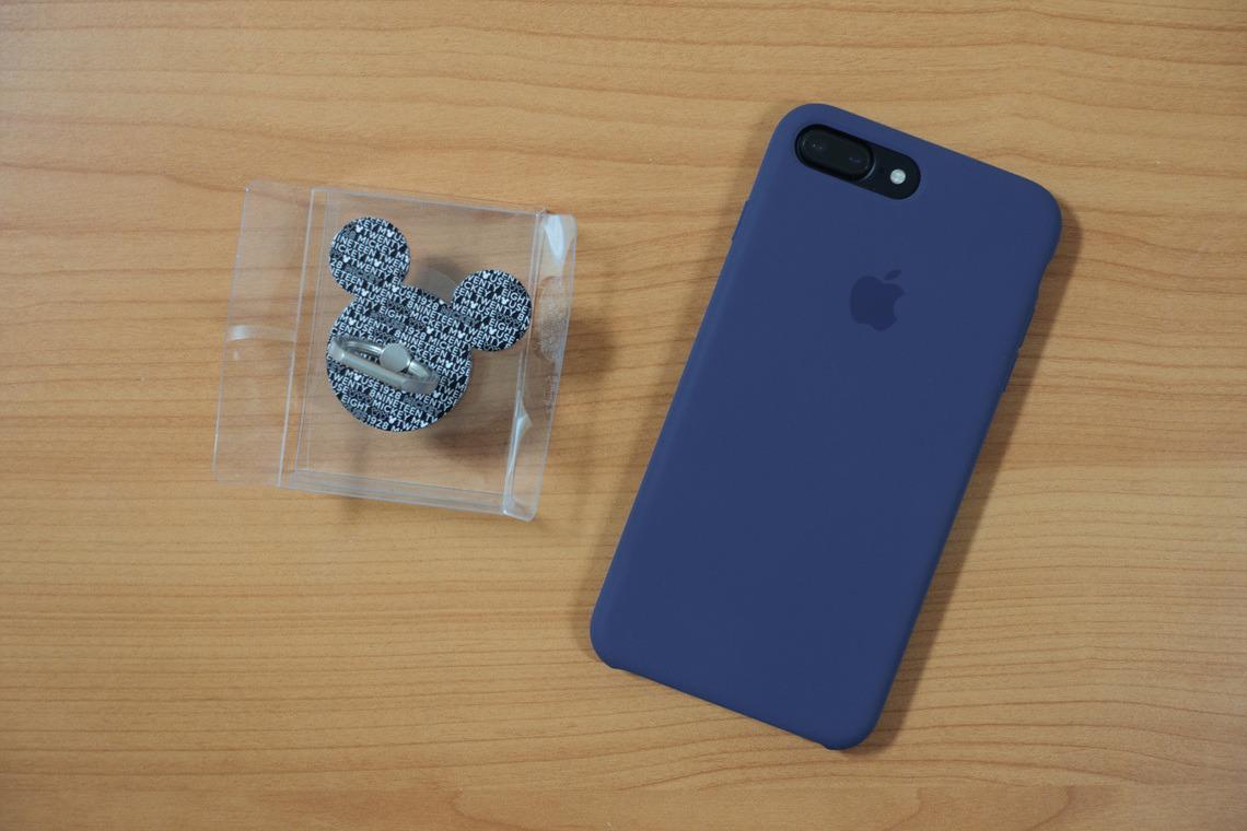 아이링 미키마우스와 애플 정품 실리콘 케이스