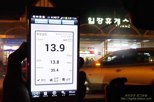 LTE-A 속도, 입장 휴게소