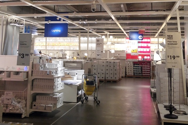 IKEA Lighting section