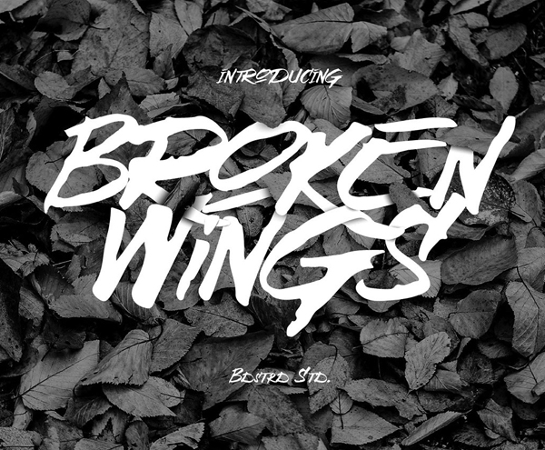 Broken Wings – Free Brush Font