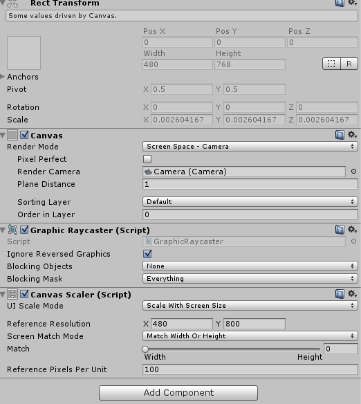 Unity3D :: UGUI Canvas Screen Scale Fit (UGUI 캔버스 디바이스 화면에