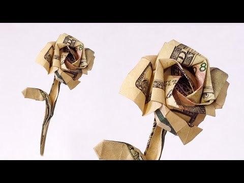 백달러 장미 (Seth Friedman) 달러 꽃 종이접기 동영상