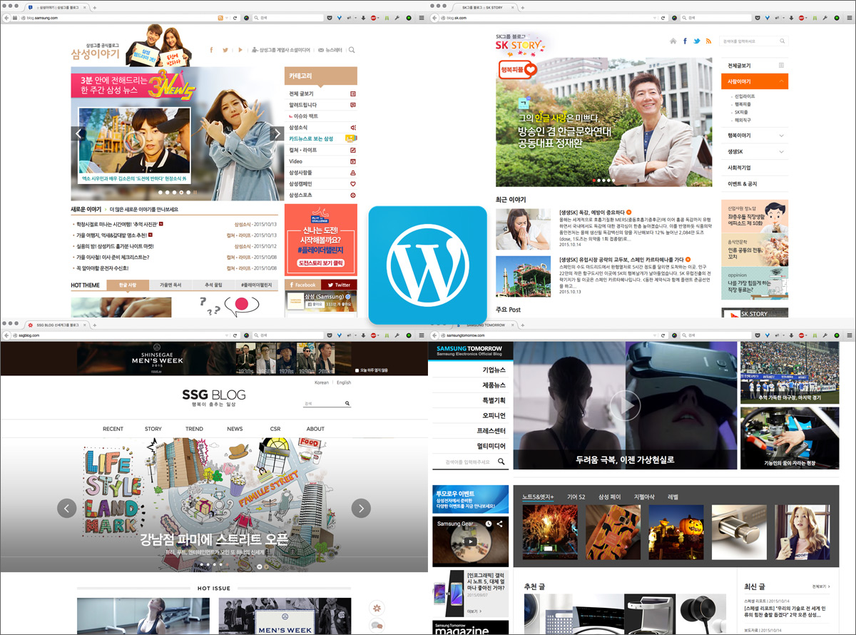 Korean Business Blogs Powered by WordPress