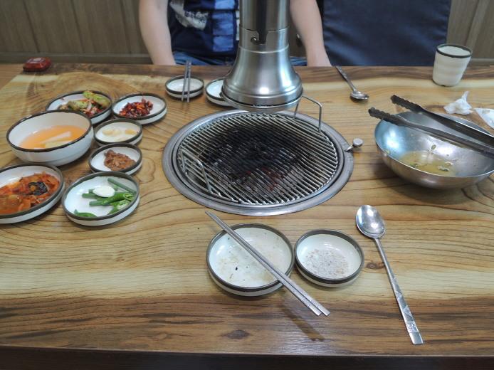 양구 맛집 먹거리 오골계 숯불구이 석장골