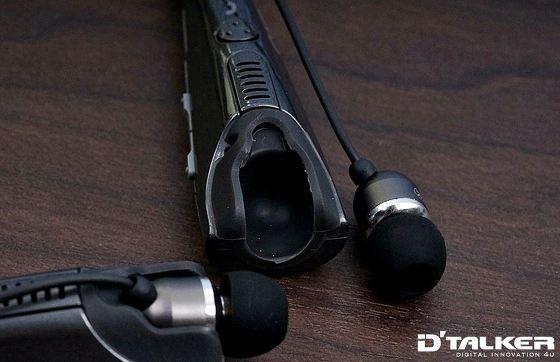 크립스 넥밴드 NB-S2 블루투스 헤드셋의 고정 홈의 마감 디자인