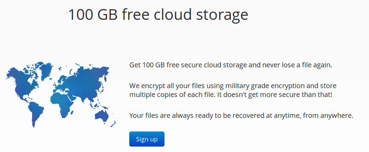 degoo free cloud storage service