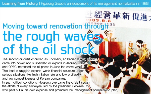 Hyosung Group's announcement of its management normalization in 1983