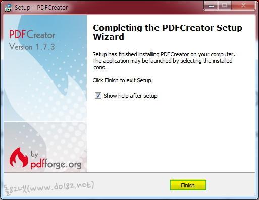 PDFCreator 설치가 완료되었다