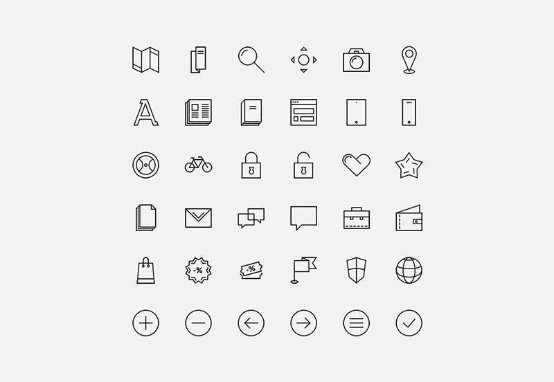 24 Geometric Icon Set