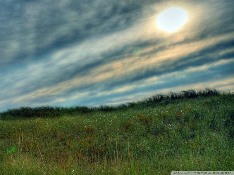 언덕 뿌연 태양 자연 풍경 태양과 하늘 배경화면 카톡 바탕화면