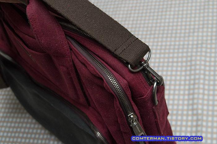 로디나트 왁스 캔버스 멀티백 노트북 가방