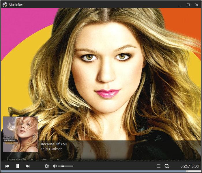 MusicBee 컴팩트 플레이어 화면-3