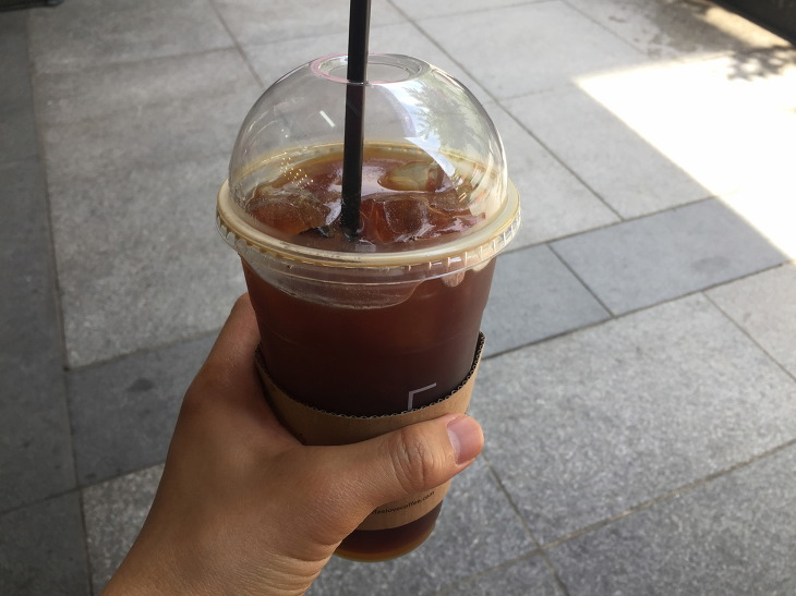 센텀시티 커피에반하다 벤티 아메리카노