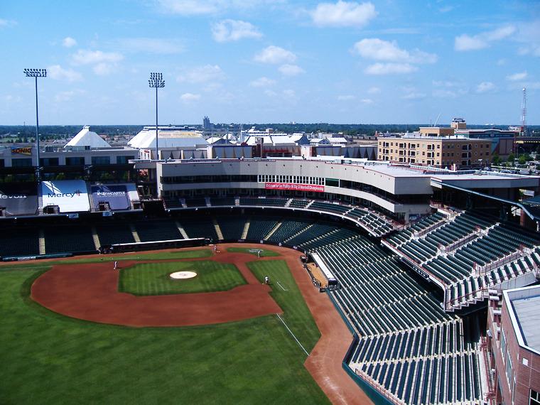 트리플 A팀 오클라호마 시티 다저스와 홈구장 치카소 브릭타운 볼파크