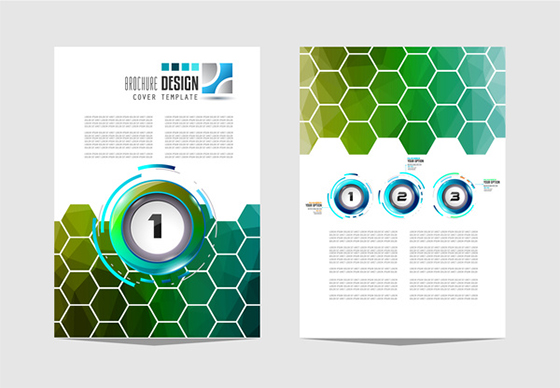 Business flyer brochure cover template vector 15
