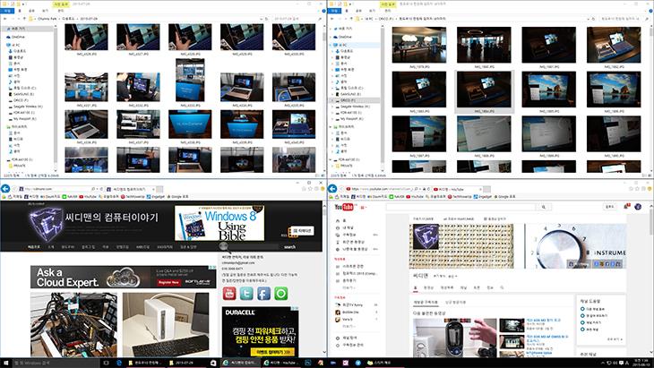 윈도우10 장점, 코타나, 가상데스크톱,가상 데스크톱,창전환,윈도우10,Windows 10,IT, 윈도우10 런칭 후기, IoT,사물인터넷,Windows Hello,Multi-doing,DX12,DirectX12,다이렉트X12,Cortana,XBOX,윈도우10 장점에 대해서 설명드리겠습니다. 기대를 모으고 있는 코타나 시연되는 모습도 윈도우10 런칭 후기를 통해서 보여드리겠습니다. 마지막 운영체제가 될것이라는 윈도우10은 IoT 모바일 태블릿 PC를 모두 통합하는 운영체제 입니다. 윈도우8의 완성본만큼 윈도우10 장점은 엄청난 기능들이 많이 있는데요. 참고로 코타나는 영문으로 설치해야 시연이 가능했습니다. 저도 직접 설치해서 사용을 해 봤는데요. 코타나는 인공지능에 예측을 하고 개인을 도와주는 개인 비서와 같은 역할을 합니다. 참고로 이 기능은 연습을 많이 시킬수록 기능이 자신에게 더 최적화가 된다고 합니다. 윈도우10 장점 중에 멀티 작업도 무척 맘에 들었습니다. 저는 32인치 큰 모니터를 사용하고 있지만 동시에 인코딩과 블로그, 웹서핑, 문서작업을 하다보면 창이 너무 많아서 정리가 안될때가 있습니다. 시간을 분산해서 여러가지 작업을 동시에 할 때에는 듀얼모니터가 좋은데요. 근데 그렇다고 32인치 모니터를 하나 더 놓을 수 는 없는데요. 이럴때는 하나의 화면을 여러개의 화면으로 작업할 수 있도록 해주는 기능을 쓰면 참 편리합니다. 여기에 그치지 않고 창을 정리하는 옵션도 기능이 추가가 되었습니다. 이제는 창을 왼쪽이나 오른쪽에 붙이는 정도가 아니라 4분할 화면도 쉽게 만들 수 있고 큰 모니터를 좀 더 온전하게 쓸 수 있게 되었습니다. 이 외에 많은 기능들이 있는데 아래에서 설명드리죠.