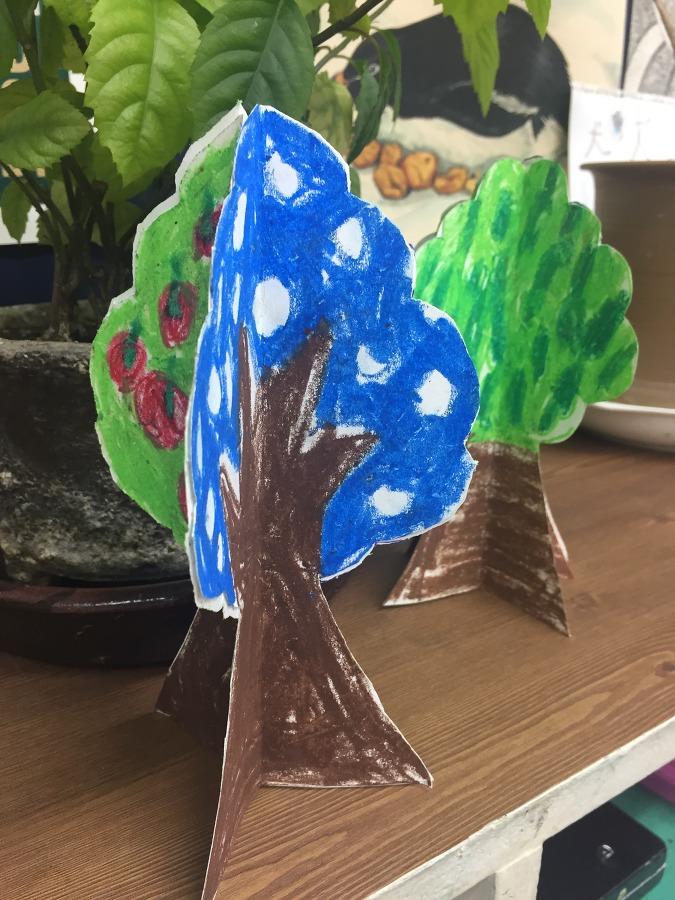봄,여름,가을,겨울 - 3D 나무 만들기