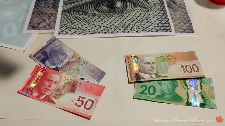 캐나다 지폐 입니다