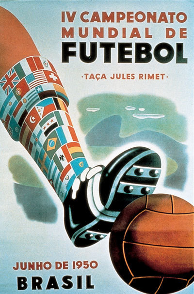 1950 FIFA World Cup Brazil poster