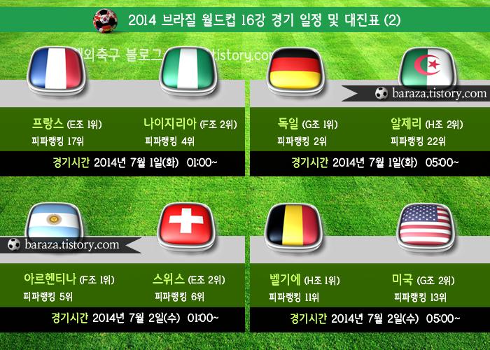월드컵 16강 대진표