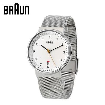 브라운 스틸밴드 시계 BNH0032WHSLMHG 화이트