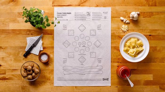 IKEA의 요리 레시피 포스터! 쉽게 요리를 만들자