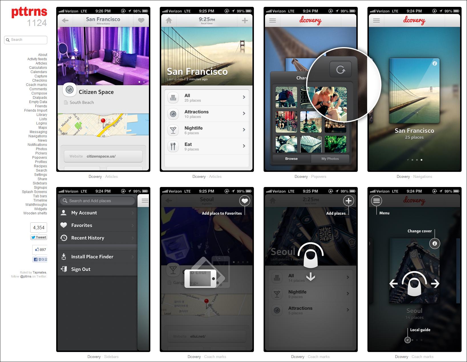 (Updated) 모바일 UI 디자인 패턴 참고 사이트 20개 총정리