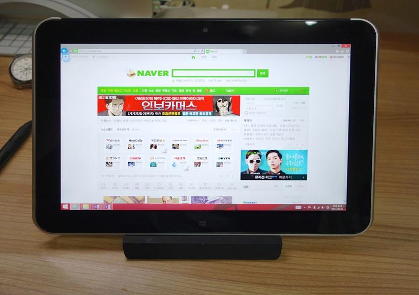 도킹 스테이션으로 완성된 원도 8.1 태블릿   HP ElitePad(엘리트패드) 1000 G2[1]