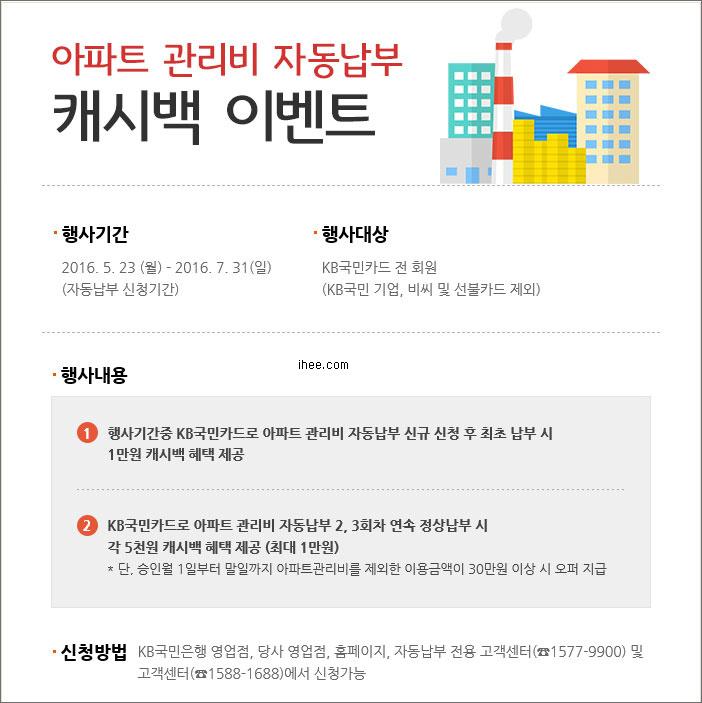 KB국민카드 아파트관리비 자동납부 신청하고 2만원 벌기