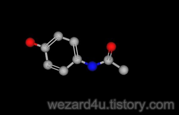 actaminophen(아세트아미노펜) 분자구조 2