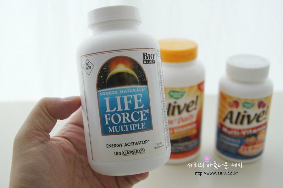 아이허브 종합비타민 제품들 모습