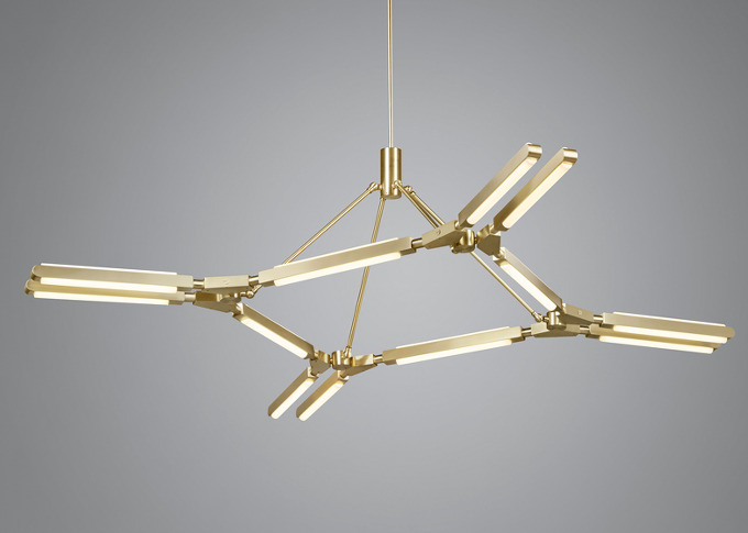 Pelle's stick-style lighting enables multiple configurations