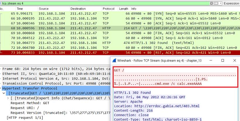 Shell code packet analysis - 1 :: Sedew