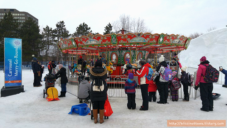 캐나다 겨울 축제 오타와 윈터루드 winterlude 회전목마