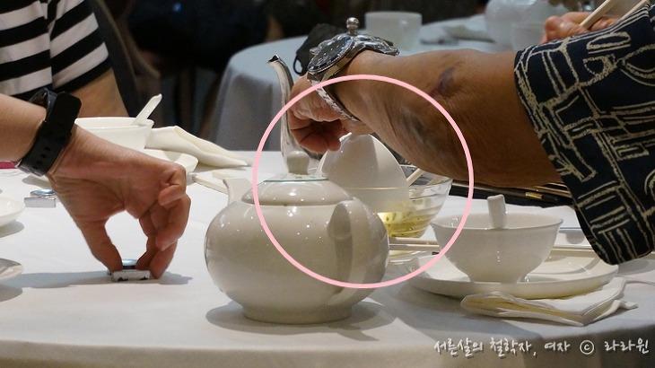 홍콩식당 뜨거운 물 용도