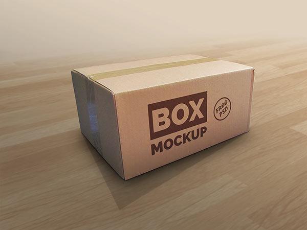 택배 박스 목업 PSD - Free PSD Box Mockup